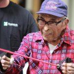 Aos 103 anos, Raymundo Chávez mantém-se em forma no Ginásio