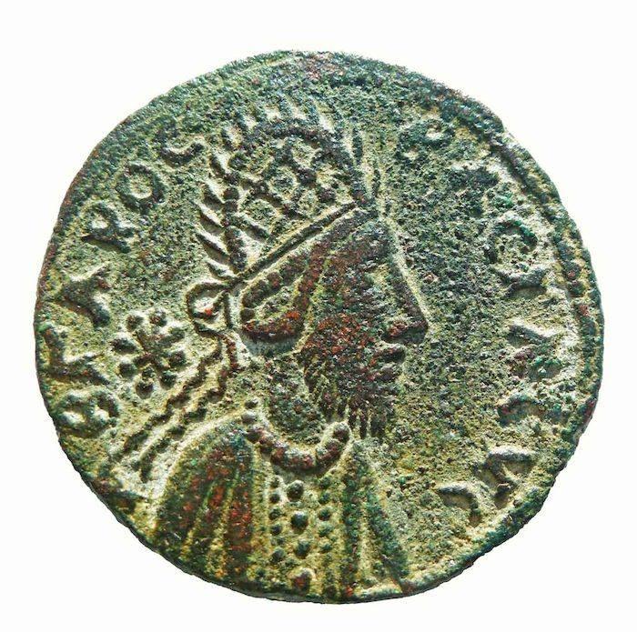 Moeda do Século I com o Rei Izas Manu que, segundo o historiador Ralph Ellis, é Jesus Cristo.
