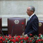O presidente da República, Marcelo Rebelo de Sousa na sessão solene comemorativa do 43º aniversário do 25 de Abril