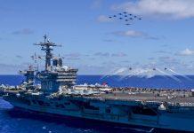 EUA enviam porta-aviões Carl Vinson para a península coreana
