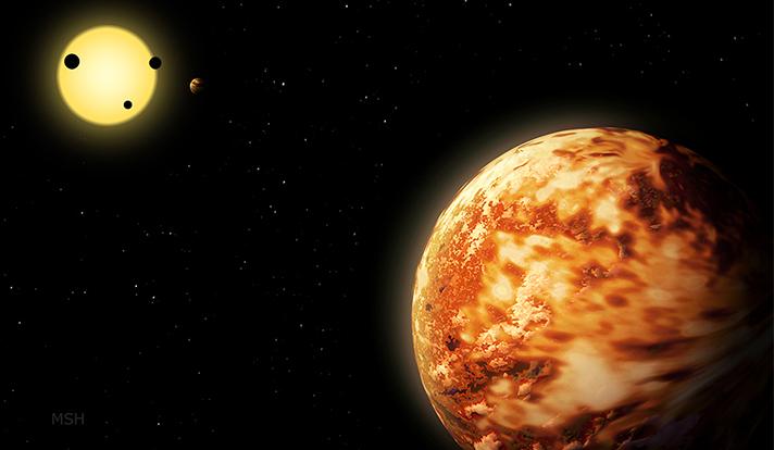 Impressão de artista do planeta Kepler-150 f