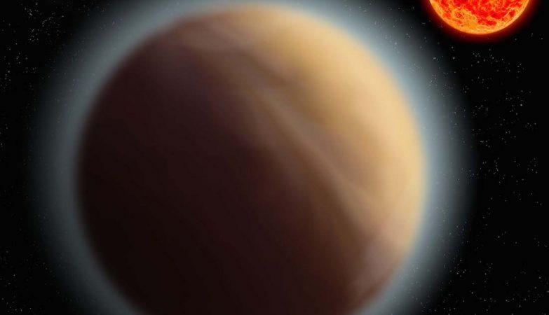 Impressão de artista do exoplaneta GJ 1132b