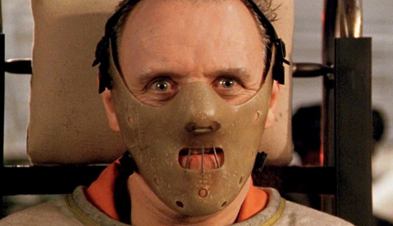 """Sir Anthony Hopkins, """"Hannibal Lector"""" no filme """"The Silence of the Lambs"""" (1991)"""