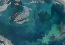 Fitoplâncton no mar de Barents captado por satélite da NASA