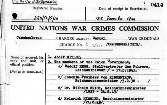 Vários países acusaram Hitler e outros líderes nazis de crimes de guerra