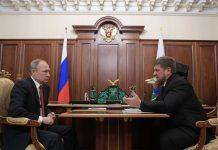 O governador checheno, Ramzan Kadyrov, Ramzan Kadyrov foi recebido por Putin na quarta-feira