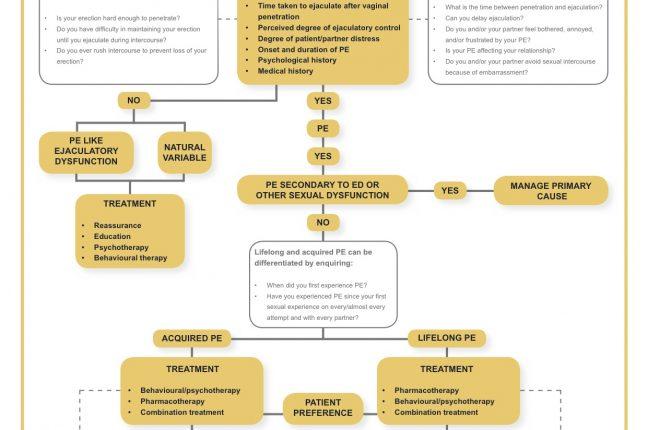 Algoritmo de tratamentos para a ejaculação precoce da Sociedade Britânica de Medicina Sexual
