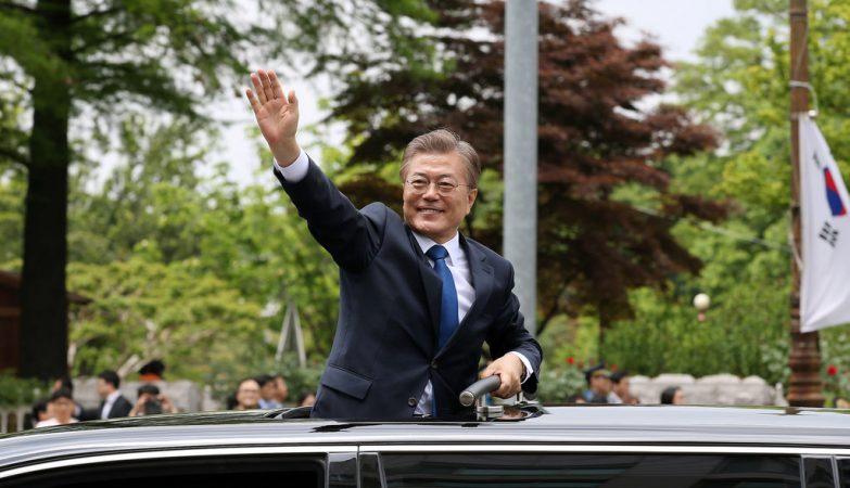 O novo Presidente da Coreia do Sul, Moon Jae-in