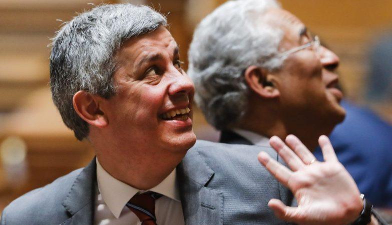O Ministro das Finanças, Mário Centeno, e o primeiro-Ministro António Costa