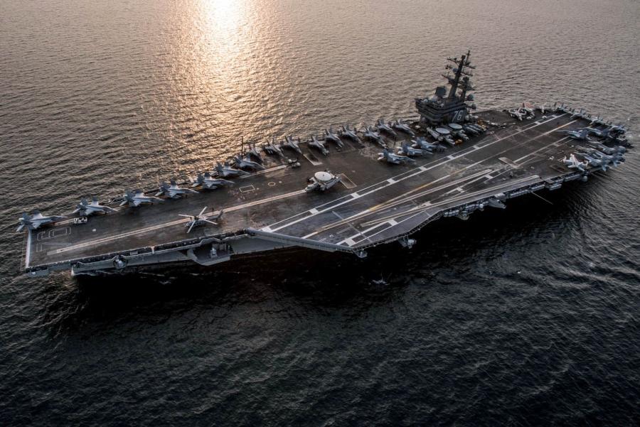 Porta aviões classe Nimitz USS Ronald Reagan da Marinha dos EUA