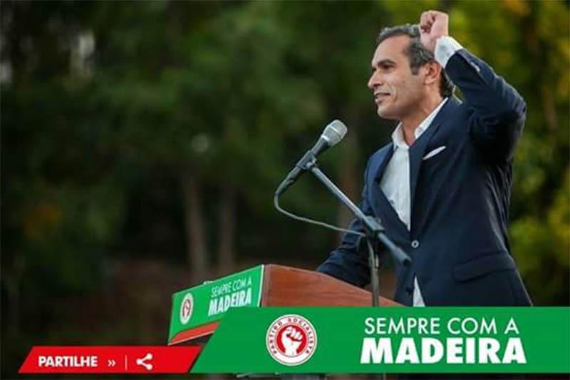 Carlos Pereira, líder do PS Madeira