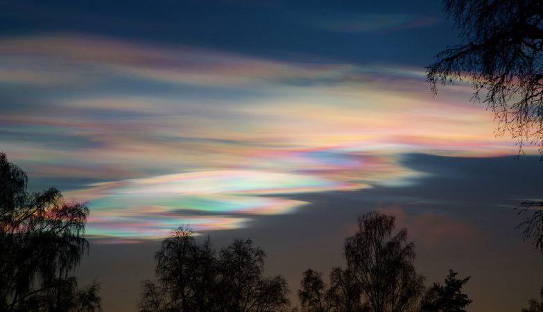 Nuvens estratosféricas polares