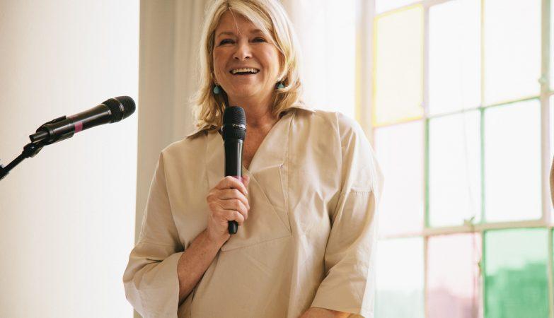 A apresentadora norte-americana Martha Stewart