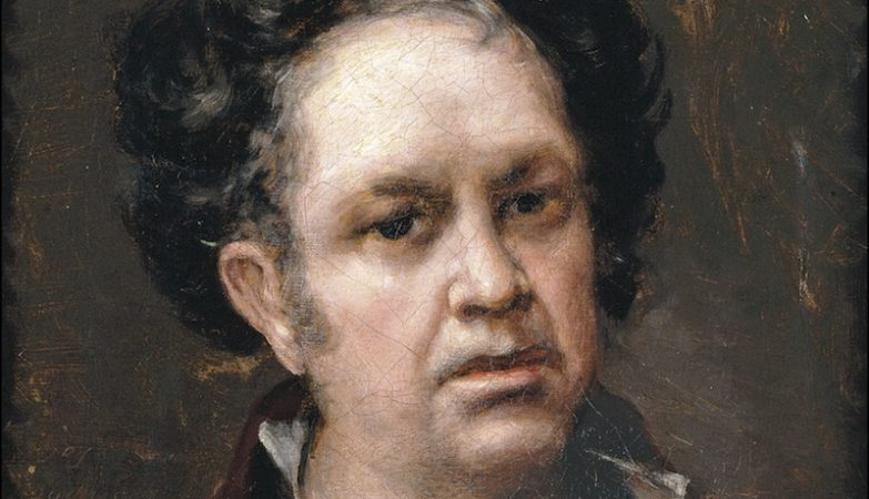 Francisco de Goya (1746-1828), auto-retrato a óleo, 1815