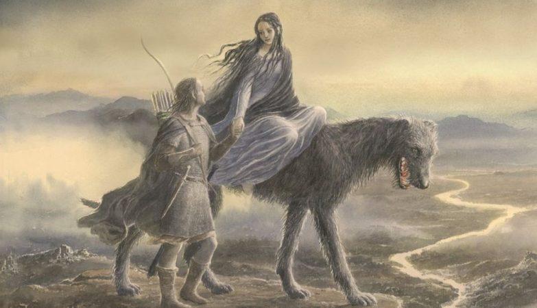Ilustração para o livro Beren e Lúthien, de Tolkien, criada por Alan Lee