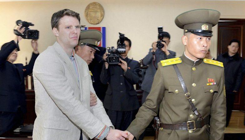 O estudante norte-americano Otto Warmbier, de 22 anos, detido em 2016 pela Coreia do Norte