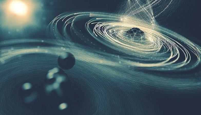 Um raio laser ultra-intenso expulsa tantos electrões do átomo de Iodo (dir.) que o átomo começa a arrastar electrões do resto da molécula (esq.) - apenas para os expulsar também