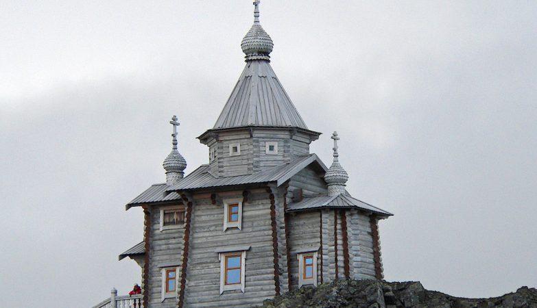 Igreja da Santa Trindade, na Ilha de S. Jorge, na Antártida