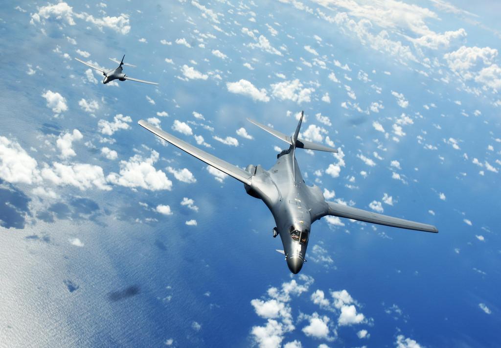 Bombardeiros Rockwell B-1B Lancer da Força Aérea dos EUA