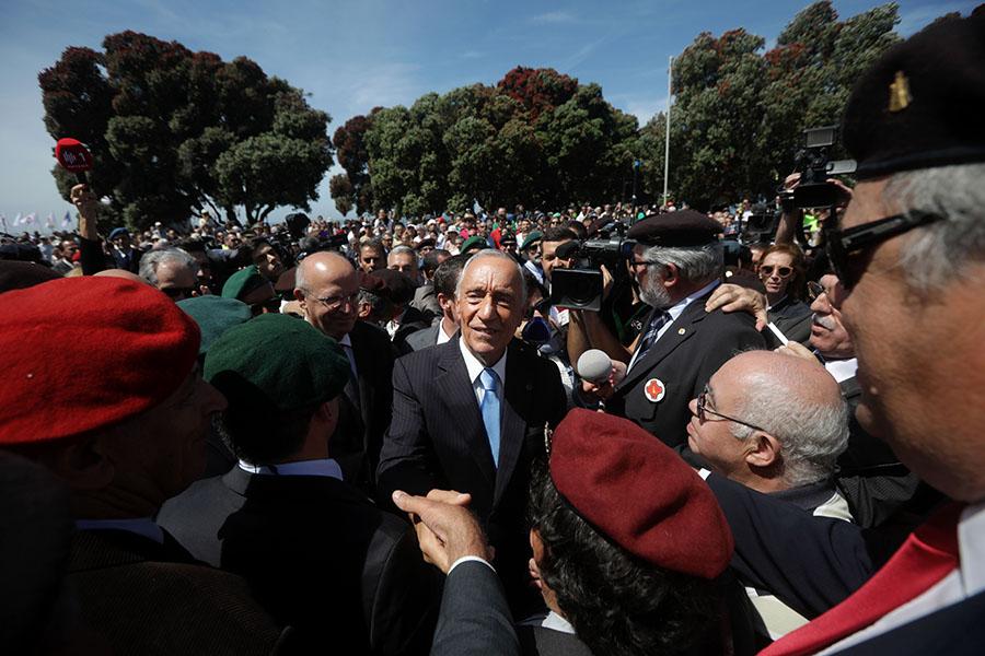 Marcelo Rebelo de Sousa nas comemorações do Dia de Portugal, no Porto.