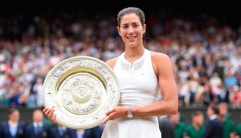 Garbiñe Muguruza é a segunda jogadora espanhola a vencer em Wimbledon depois de Conchita Martínez