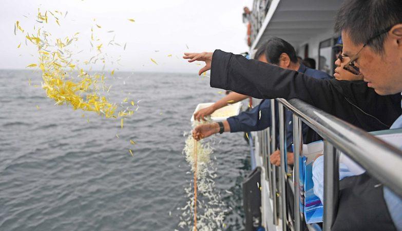 Cinzas de Liu Xiaobo lançadas ao mar