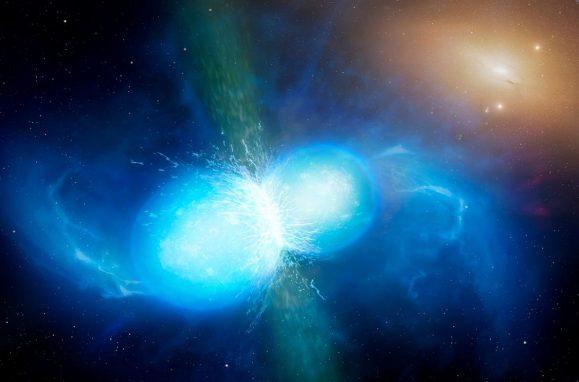 Cientistas observam pela 1ª vez fusão de estrelas de nêutrons