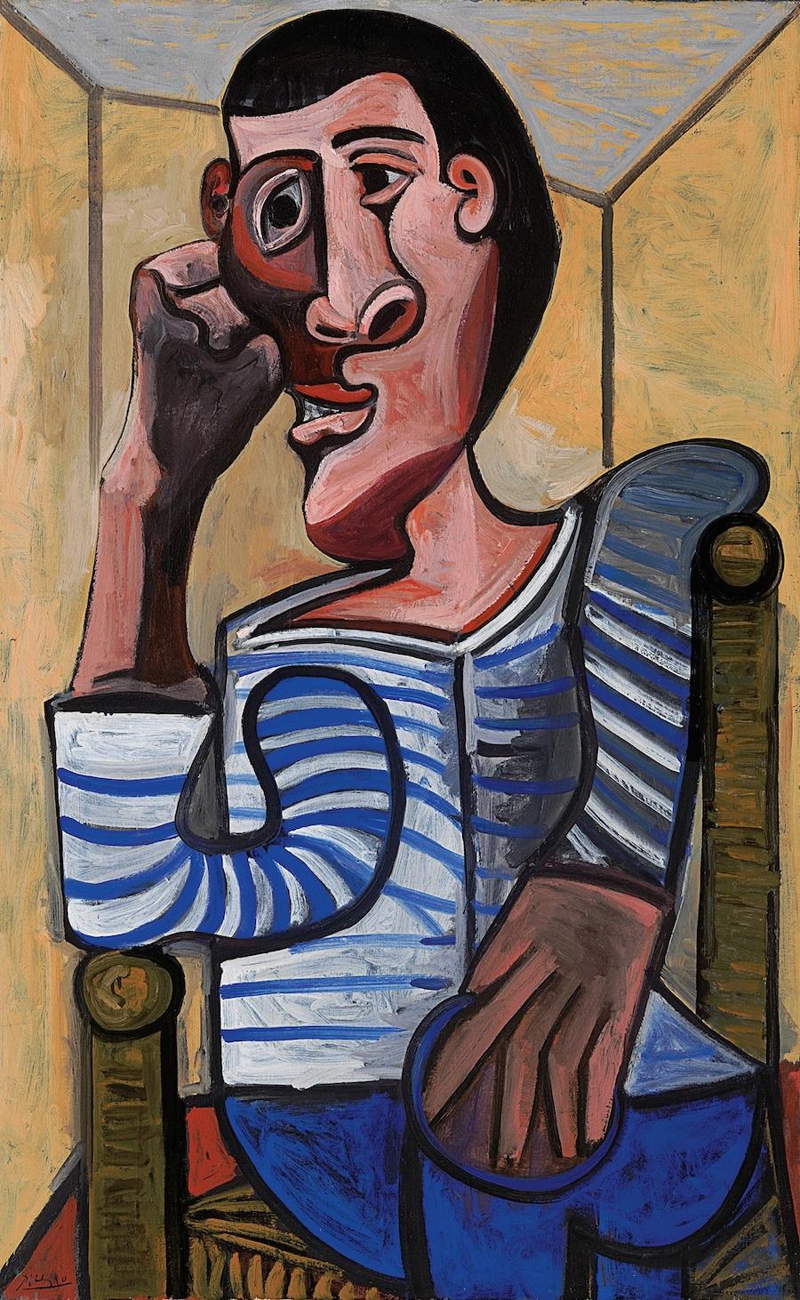 """""""O Marinheiro"""", óleo em tela de Pablo Picasso, 1943"""