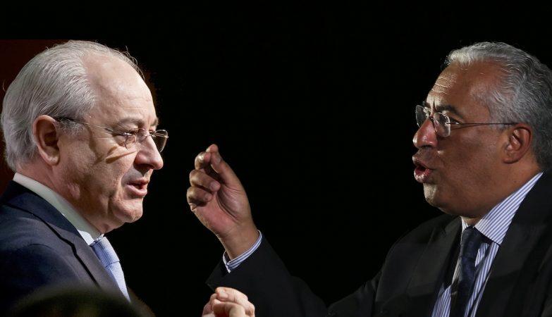 O lider do PSD, Rui Rio, e o primeiro-ministro António Costa (PS)