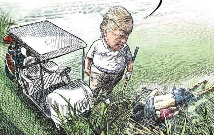 Cartoonista Dispensado Depois De Desenhar Trump A Jogar Golfe