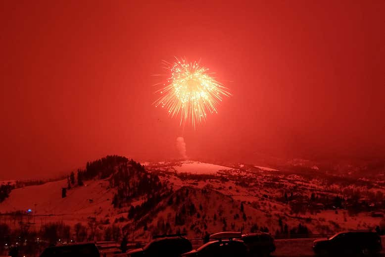 The world's largest firework painted Colorado's skies red