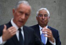 O primeiro-ministro, António Costa, acompanhado pelo Presidente da República, Marcelo Rebelo de Sousa