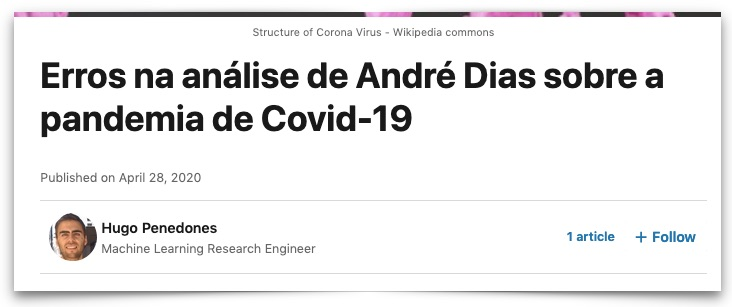 Erros na análise de André Dias sobre a pandemia de Covid-19