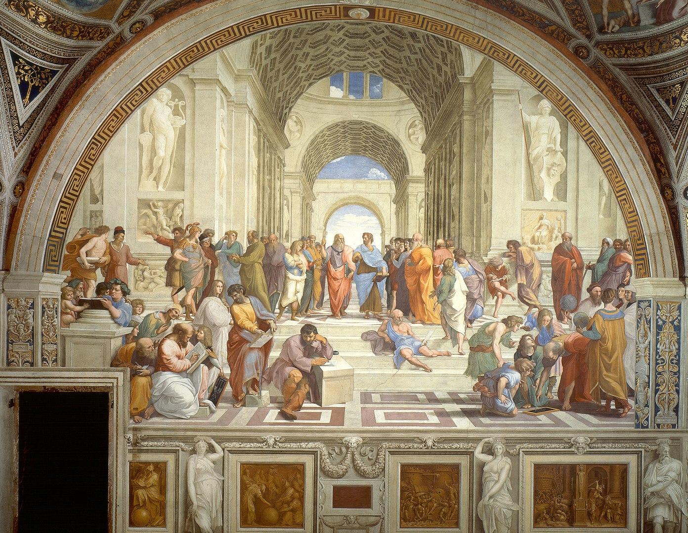 """A Escola de Atenas"", quadro de Rafael Sanzio."