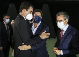 Rui Moreira com Francisco Rodrigues dos Santos e Carlos Moedas