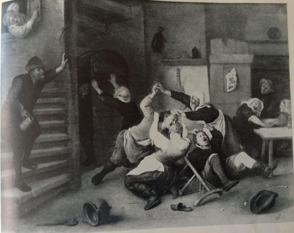 """""""Vechtpartij"""", quadro de Jan Steen."""