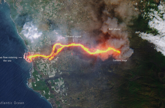 78805a221a988e79ef3f42d7c5bfd418 Lava from the volcano has increased the coast of La Palma by almost 20 hectares (and particles have already reached the Azores)