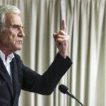 O secretário-geral do PCP, Jerónimo de Sousa, em conferência de imprensa