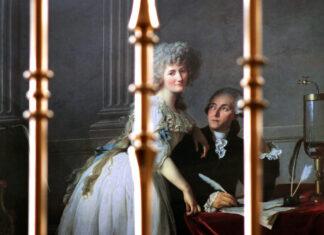 Retrato de Monsieur Lavoisier e a sua esposa Marie-Anne-Pierrette Paulze.