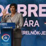 A candidata a primeira-ministra da Hungria, Klára Dobrev.