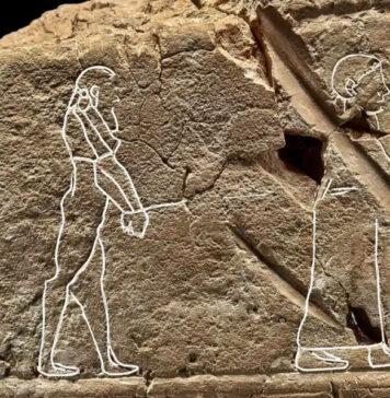 A tábua babilónica que se descobriu ter a representação de um fantasma.